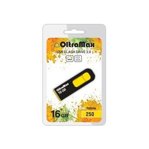 USB флешка 16Gb OltraMax 250 Yellow OM-16GB-250-Yellow